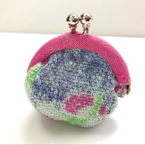 Free People 2 inch kiss lock coin purse tapestry